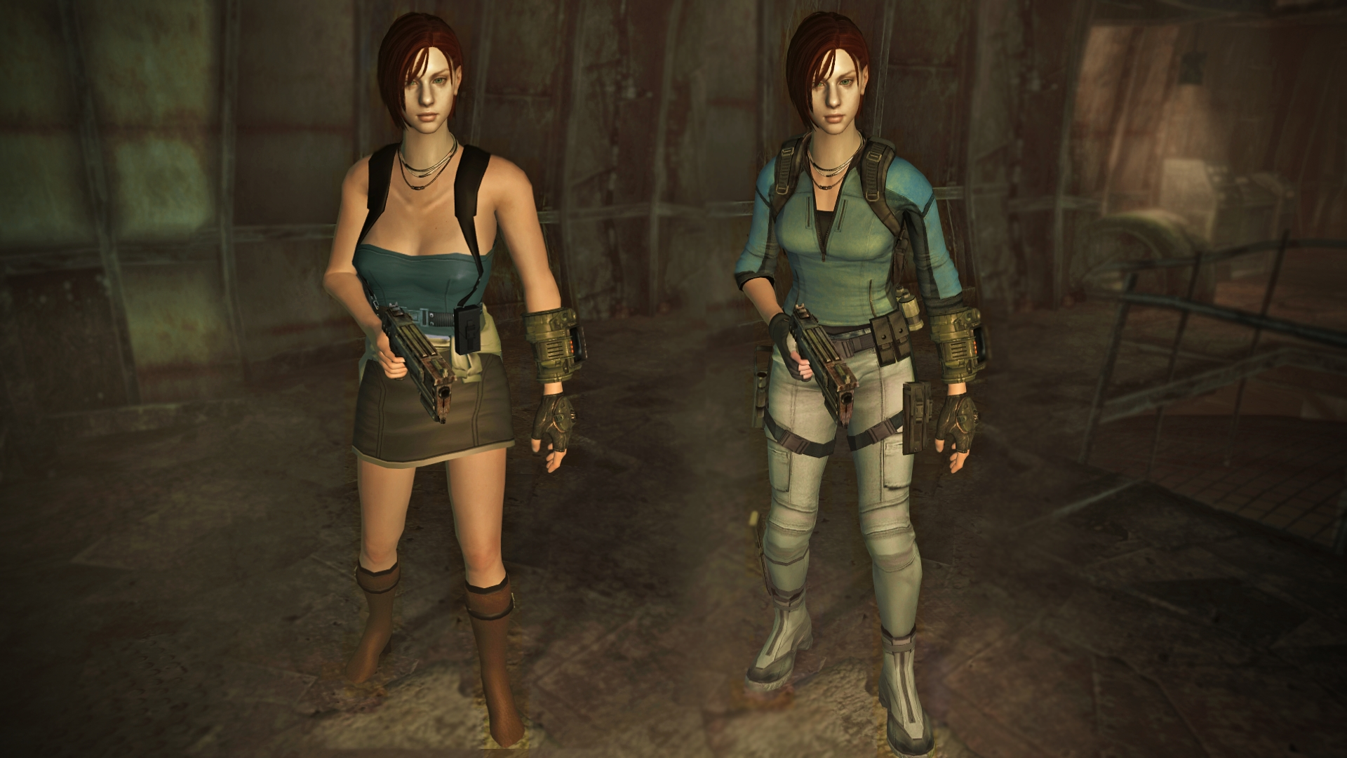 Jill Valentine Fallout 3 race & clothes