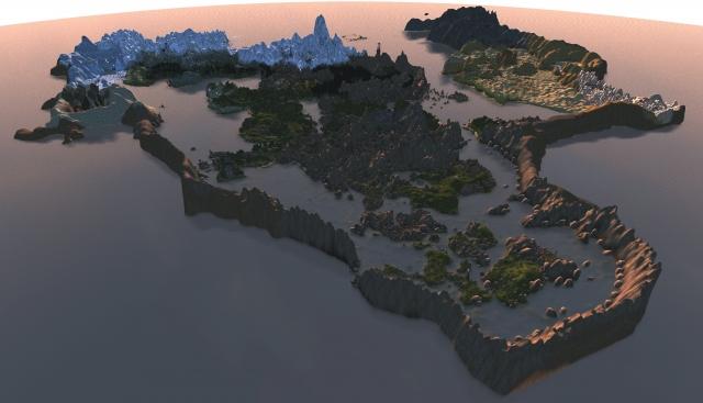Arktwend Land - Aerial view  - Mourn