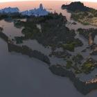 Arktwend Land - Aerial view  - Morning