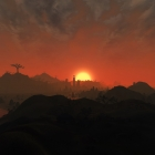 Закат над материковой частью Морровинда