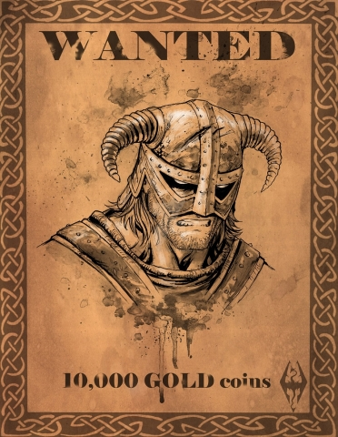 Dovahkiin Wanted Poster