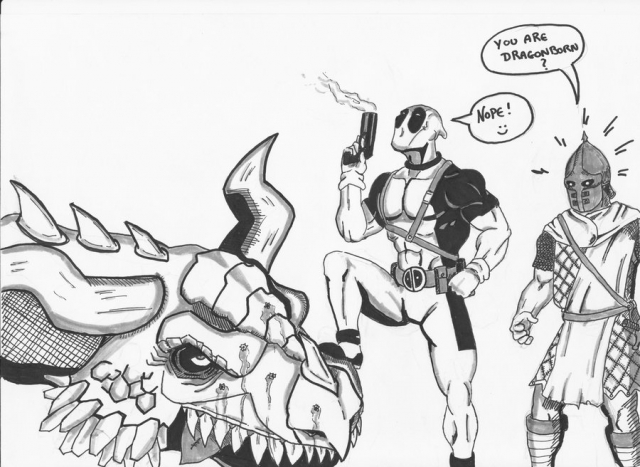 Deadpool vs Skyrim