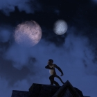 Monkey dance under moons