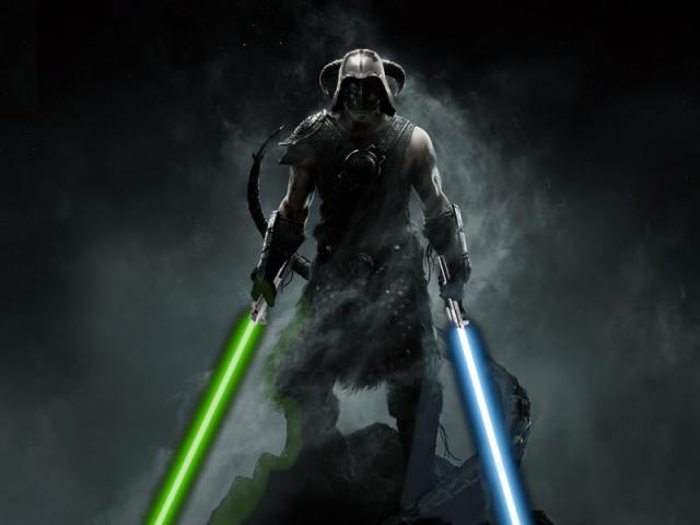 Джеди - Довакин. Скайрим Star Wars