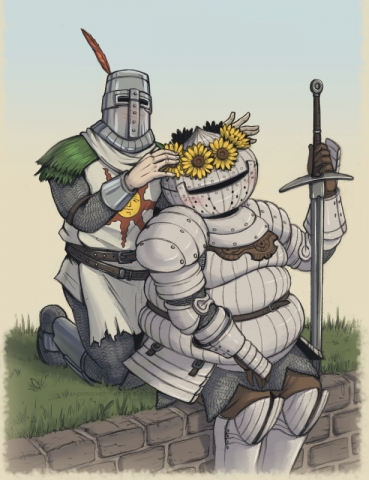 Solaire of Astora and Siegmeyer of Catarina