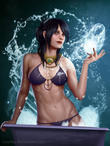 Morrigan's water magic