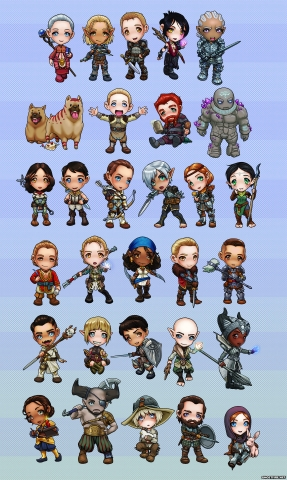 Dragon Age Chibi Set