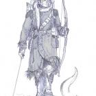 Долийский эльф в зимней одежде (Эвлар Махариэль).