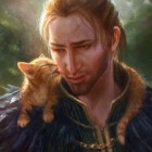 Anders and Ser Pounce-a-lot by therealmcgee