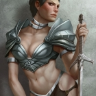 Cassandra Pentaghast in fantasy armor