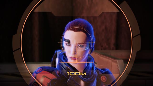 Командор как бы почувствовала что на нее смотрят через прицел