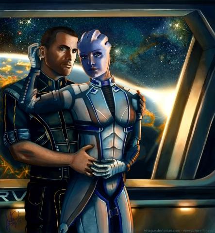 Liara And Shepard