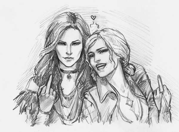 Yennifer and Triss