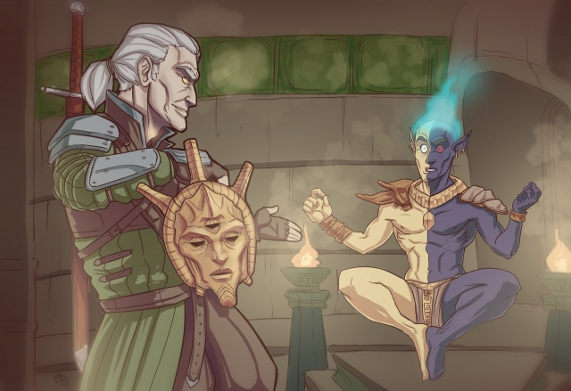 Wtcher and Vivec