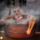 Ciri at the Bath House