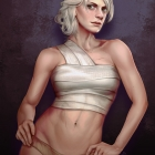 Ciri with the rose tattoo