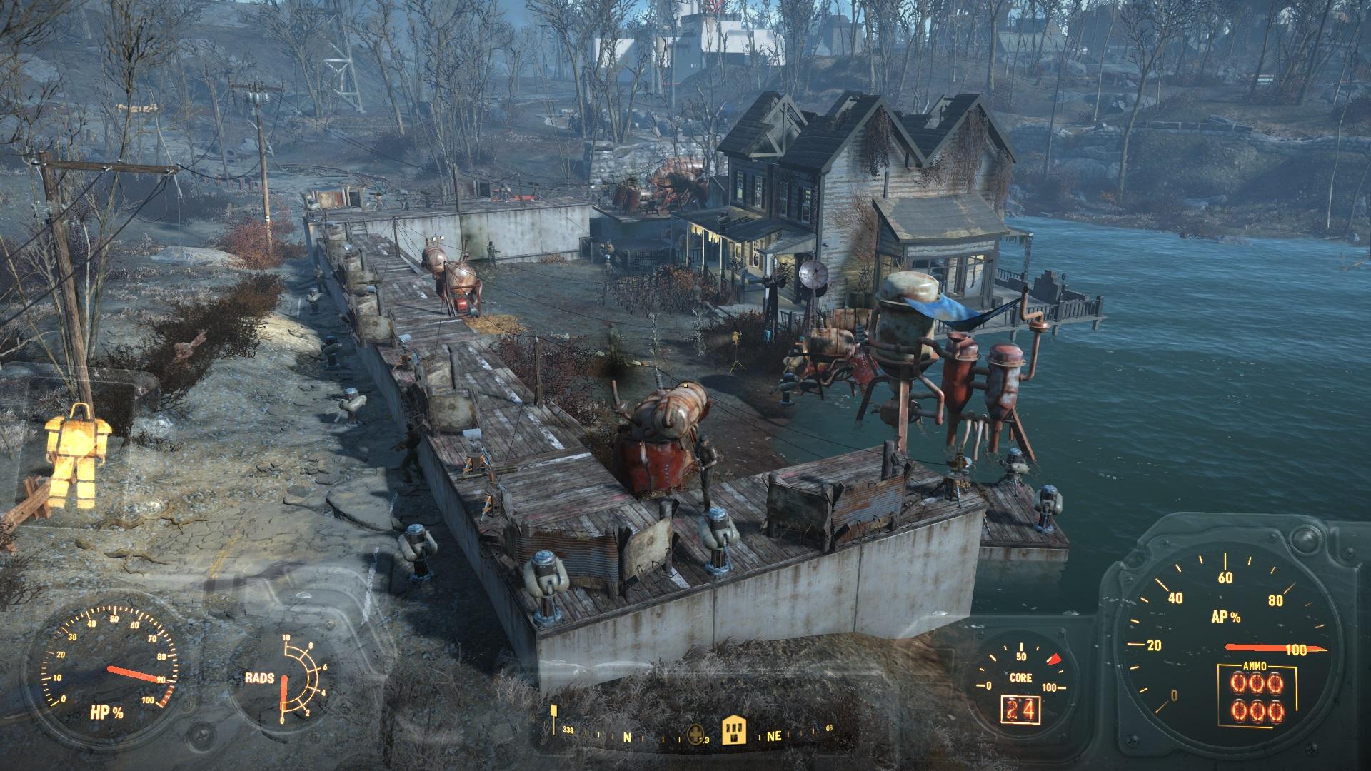 fallout 4 лодочный домик таффингтона баг