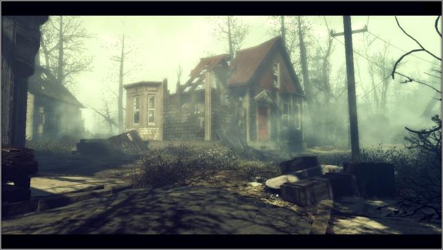 Заброшенный городок (день)