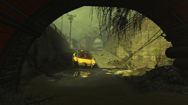 Под мостом в тумане